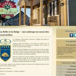 Site web de l'auberge La Belle et la Belge développé par Jean-François Blais
